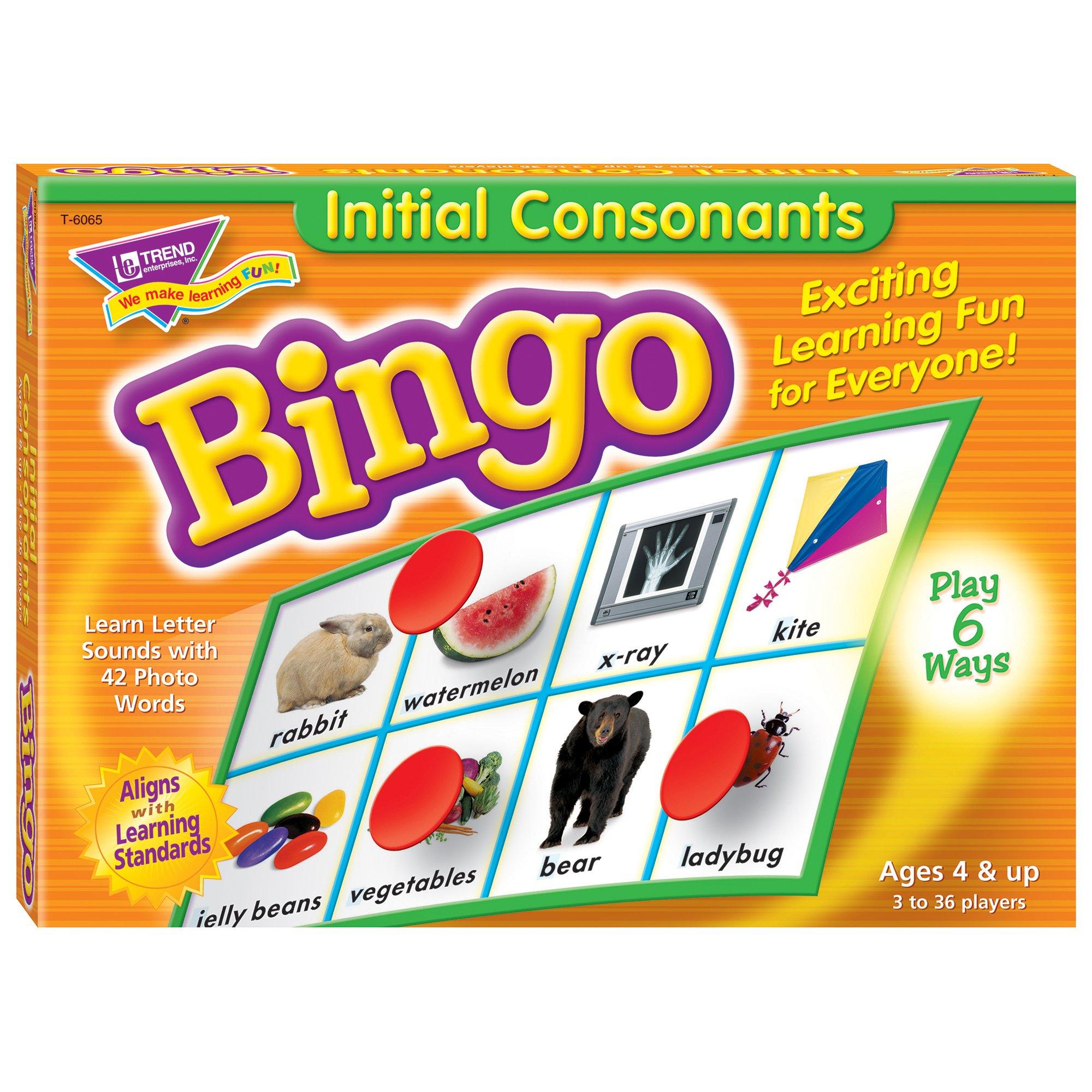 TREND enterprises, Inc. Initial Consonants Bingo Game