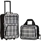 Rockland 2 Pc Luggage Set, Blackcross (Black) - F102-RED