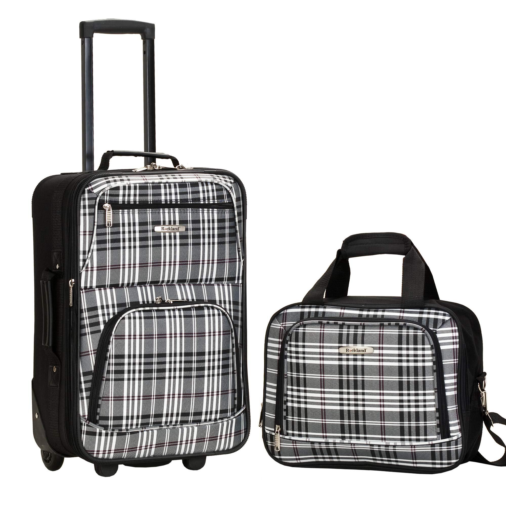Rockland Luggage 2 Piece Printed Set, Blackcross, Medium