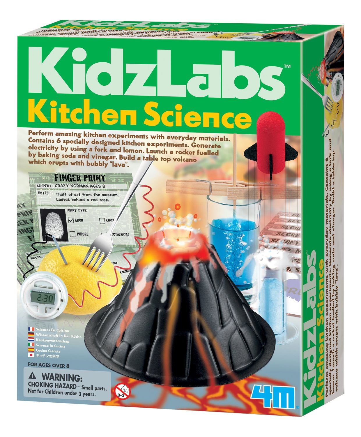 worksheet Kitchen Science amazon com 4m kitchen science kit toys games