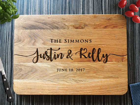 Personalized Cutting Board Wedding Gift Custom Wedding Gift