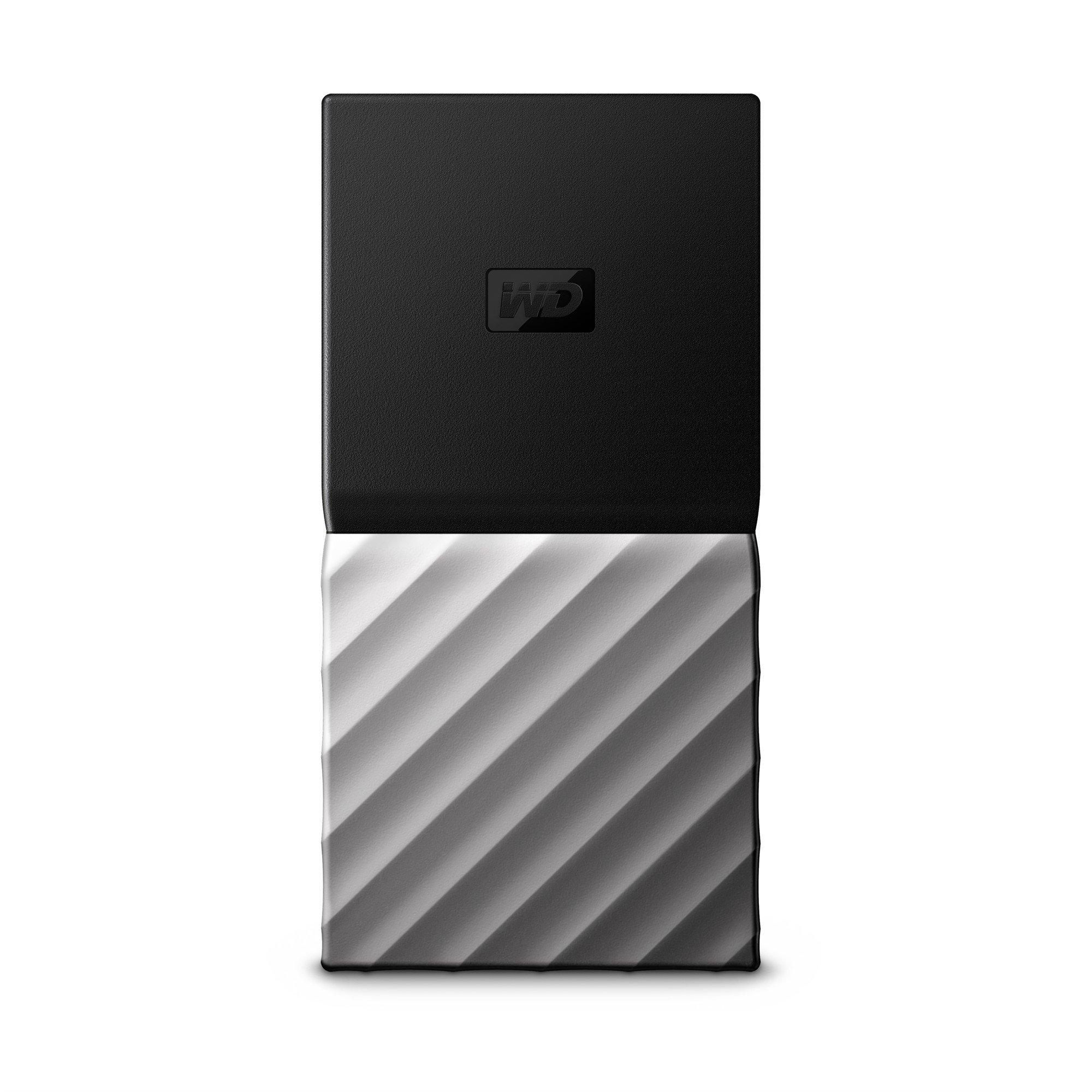 WD 1TB My Passport SSD Portable Storage - USB 3.1 - Black-Gray - WDBK3E0010PSL-WESN by Western Digital