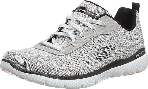 Skechers , Damen Sneaker schwarz schwarz weiß Sportschuhe