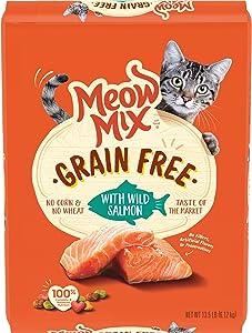 Meow Mix Grain Free Dry Cat Food, Wild Salmon, 13.5 Pounds