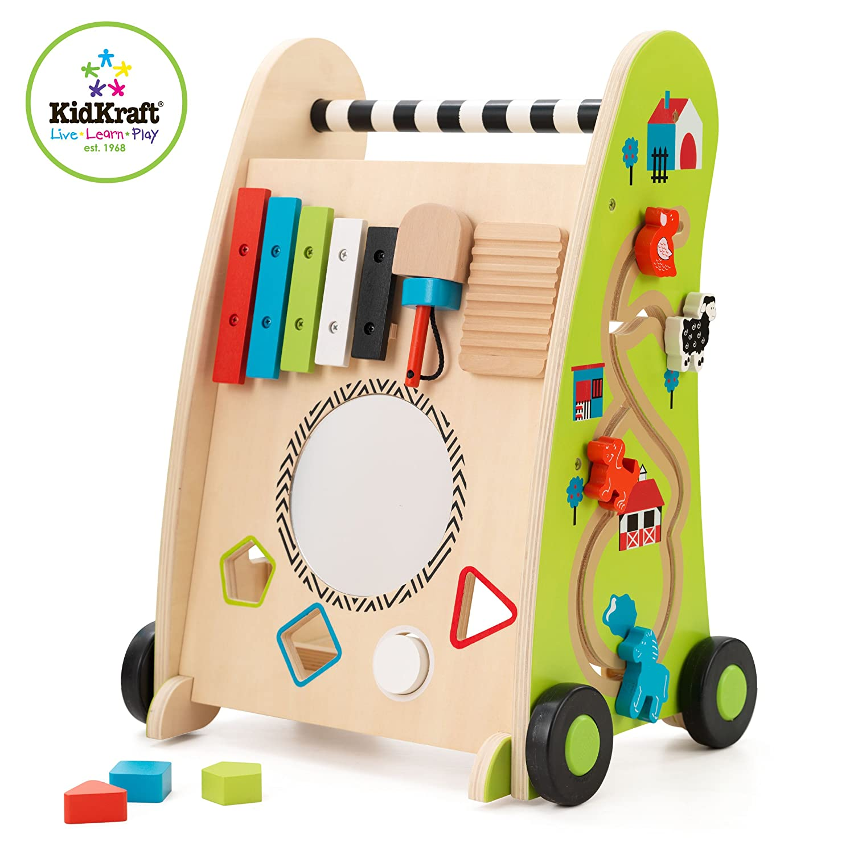 KidKraft 63246 Correpasillos de madera para niños Push Along con ...