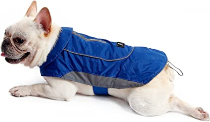 BSEEN Dog Raincoats Adjustable Lightweight Waterpoof Dog Rain Jacket with Reflective Strip Gear /& Harness Hole for Small Medium Large Dogs