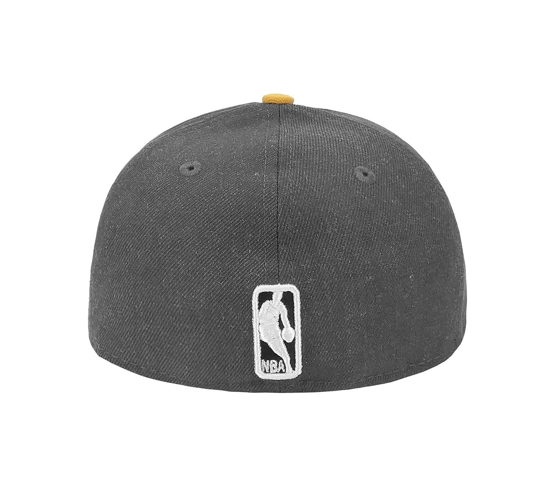 New Era 59Fifty Hat NBA Los Angeles Lakers Shader Melt 2 Charcoal//Yellow Cap