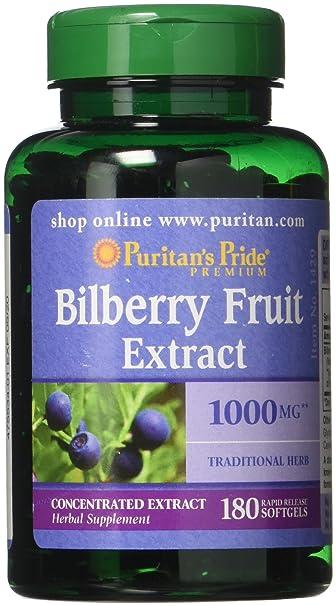 amazon com puritans pride bilberry 1000 mg softgels 180 count