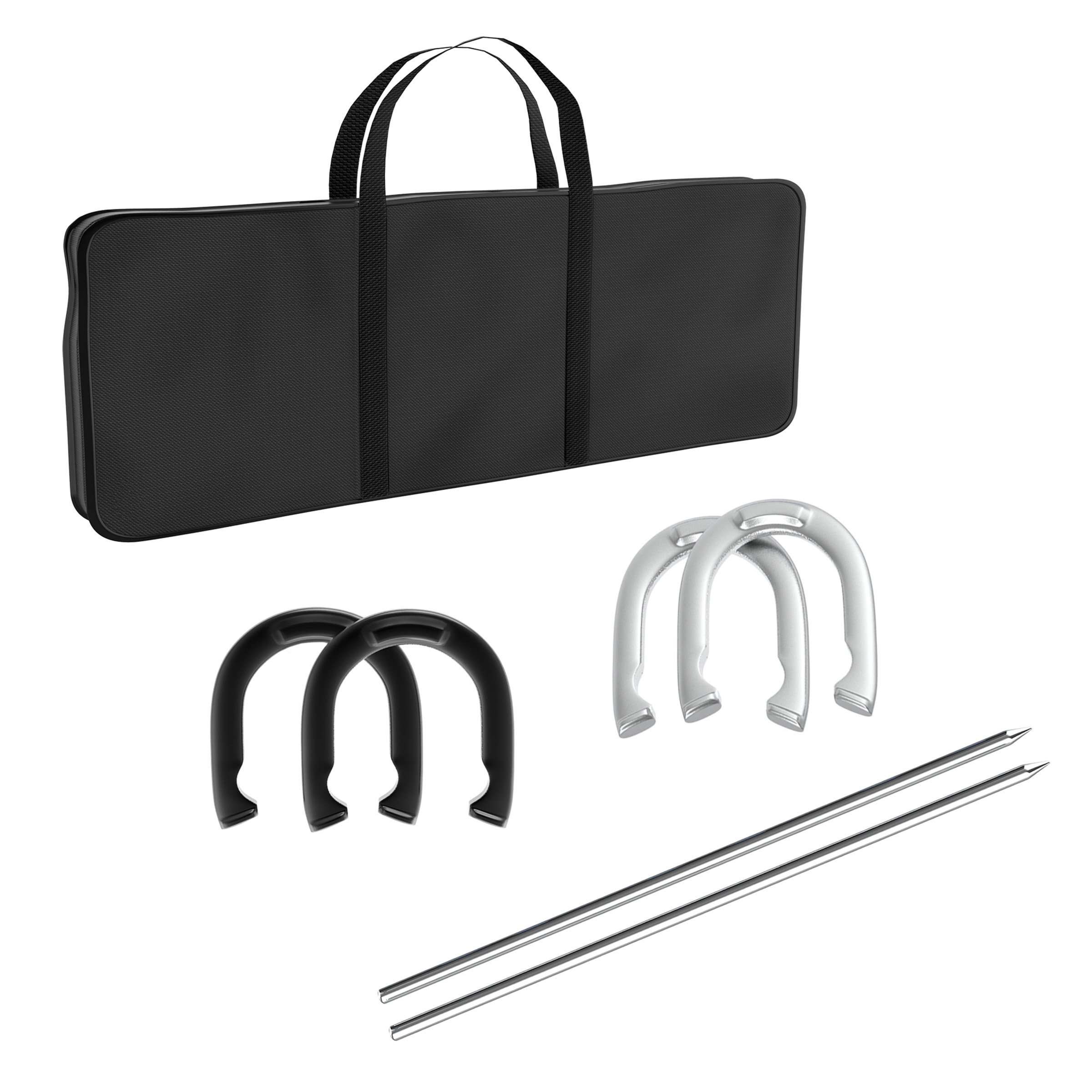 Trademark Games Professional Horseshoe Set - Heavy Duty with Carrying Case by Trademark Global