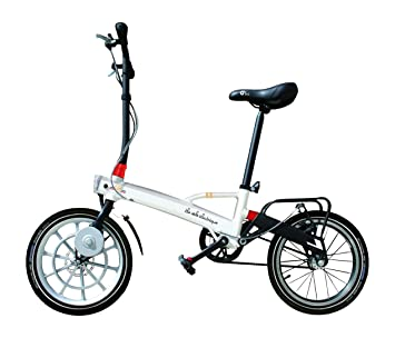 Vlec Cycles Pocket + Bicicleta Plegable eléctrica Unisex, Color Blanco