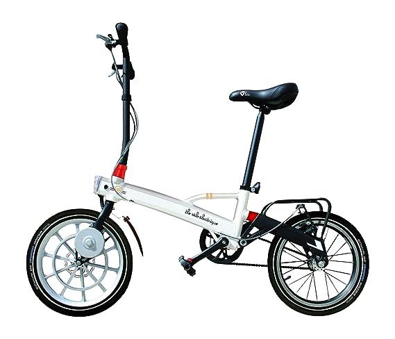 Vlec Cycles Pocket + Bicicleta Plegable eléctrica Unisex, Color Blanco: Amazon.es: Deportes y aire libre