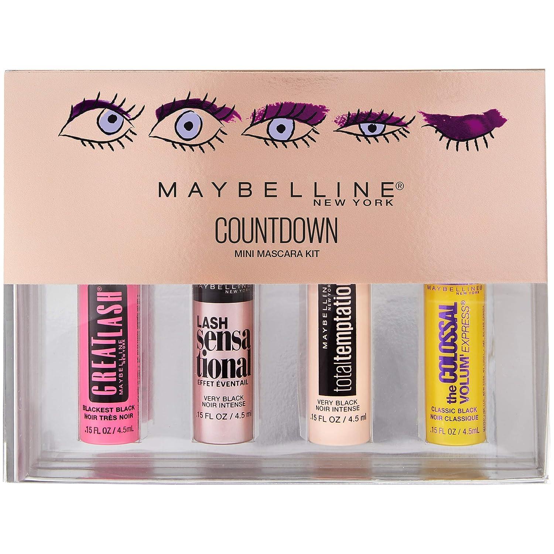 1d732e9c5a8 Amazon.com : Maybelline New York Makeup Countdown Holiday Mini Mascara Kit,  Black : Beauty