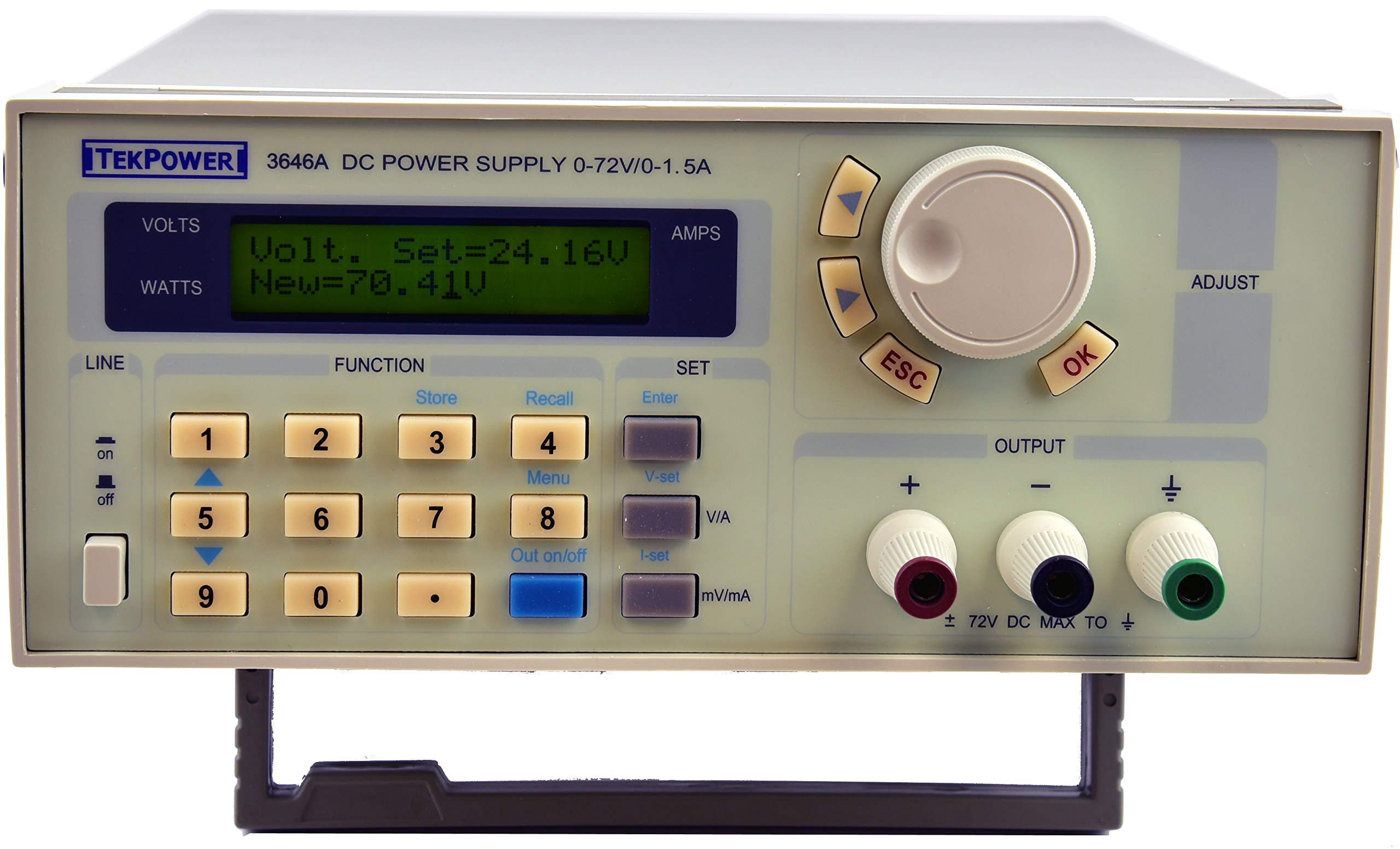 Tekpower TP3646A Programmable & Variable High-Precision DC Power Supply 0-72V @ 0-1.5A with USB Connection