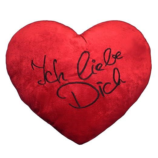 Extra Grande aprox. 60 cm Corazón Rojo Cojín de peluche incl ...