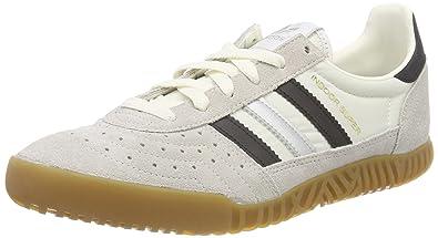 new concept 60cba 7766b adidas Mens Indoor Super Low-Top Sneakers, (Vintage Whitecore Black