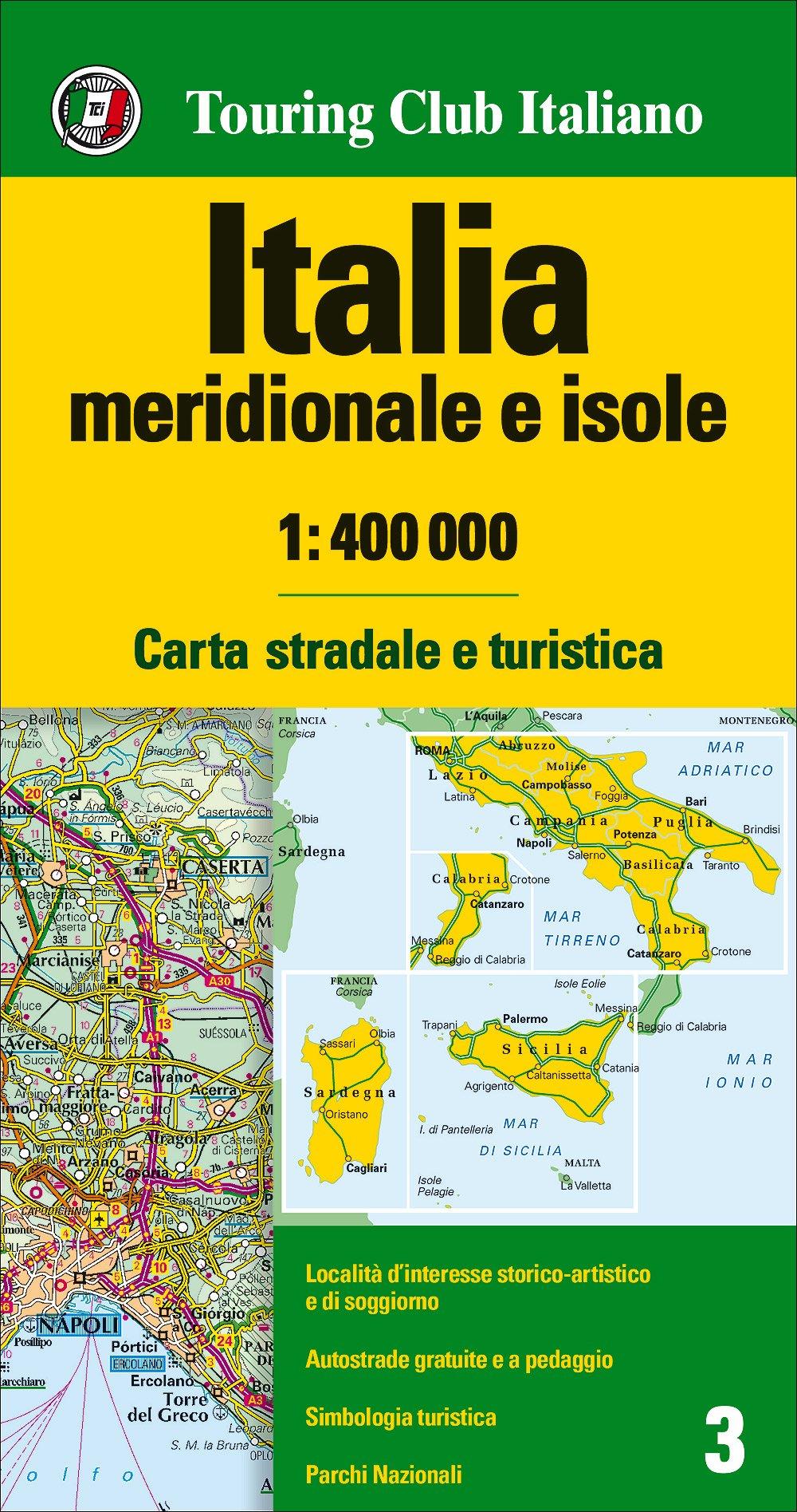 Cartina Italia Centrale E Meridionale