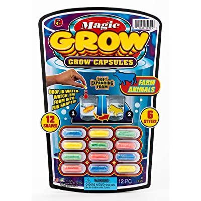 JA-RU Magic Grow Capsules (1 Packs 12 Capsules) Best Growing Animals Dinosaurs Capsules Bath Toys for Kids. and 1 Bouncy Ball. Bulk Supply. 305-1A: Toys & Games