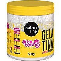 Gelatina #todecacho Mais Definição Transição Capilar, 550gr, Salon Line, Salon Line, Transparente