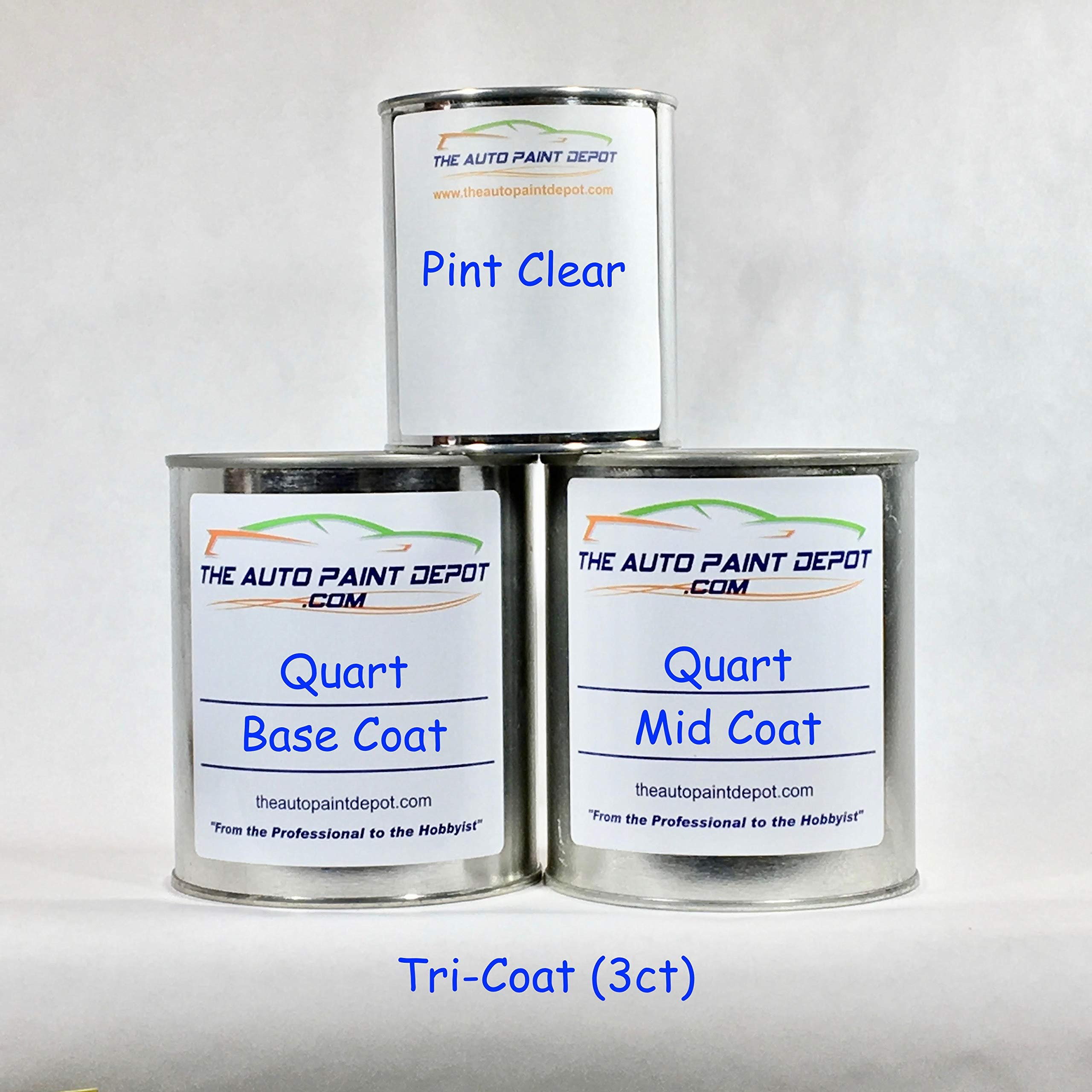 Dodge RAM Truck Pearl White PRL B/C PWQ 3ct 1 Quart Touch Up Paint (for All Year)