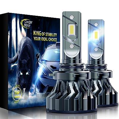 Cougar Motor Flagship 9006(HB4) LED Headlight Bulbs, Super Bright 12000Lm 6500K Conversion Kit - Cool White CREE: Automotive