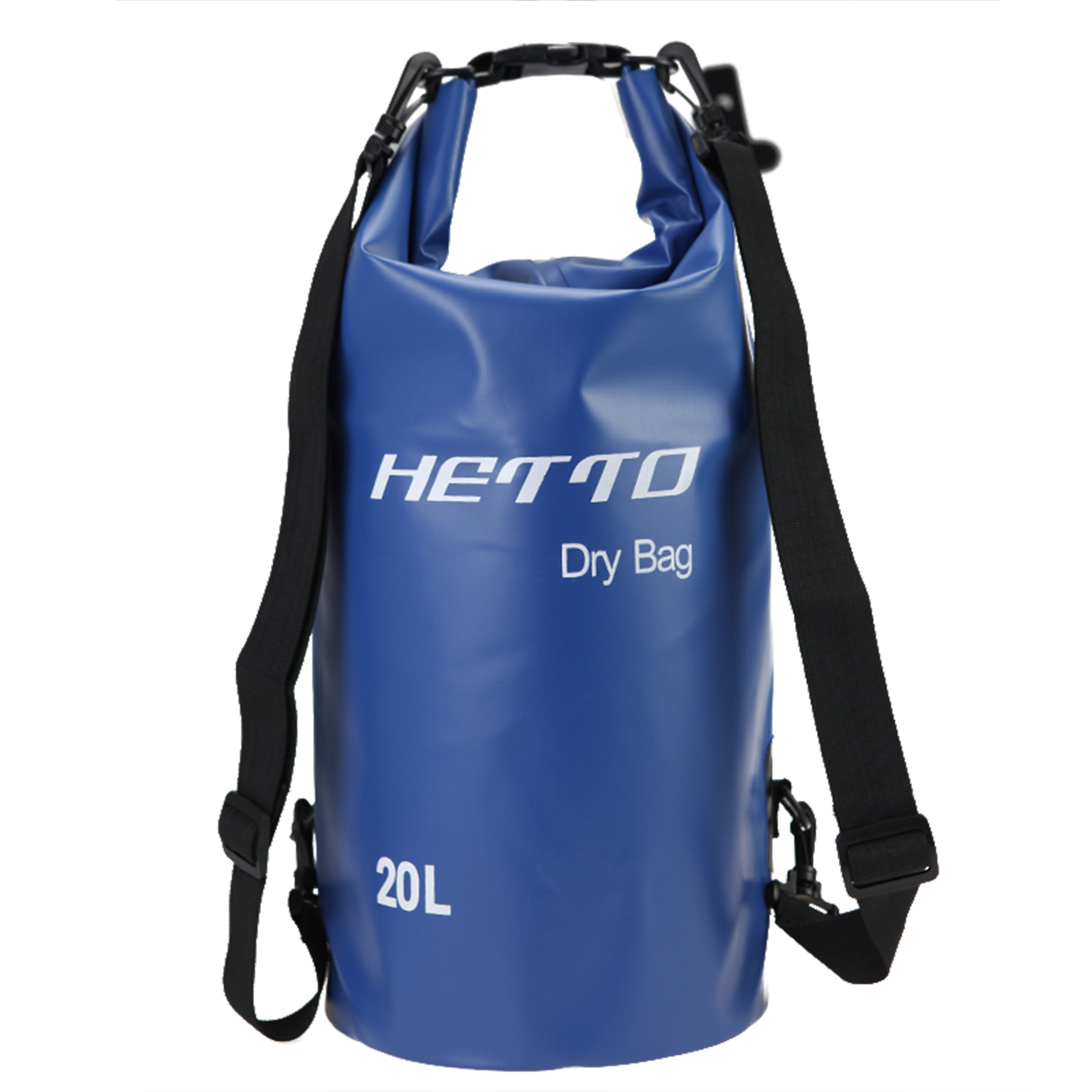 Hetto Floatable Dry Bag Waterproof Backpack 20l for Kayaking/Boating/Canoeing/Fishing/Rafting/Swimming Floating 10l Dry Bag
