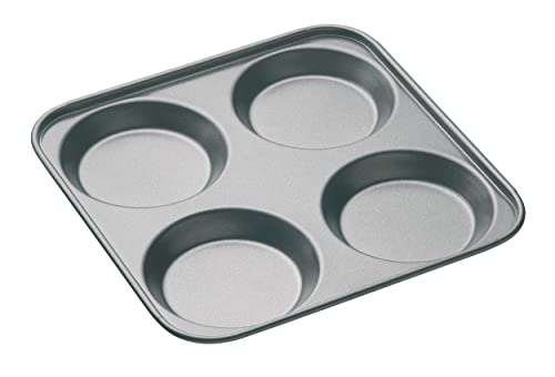 "MasterClass Non-Stick 4-Hole Yorkshire Pudding Tin, 24 cm (9.5"")"
