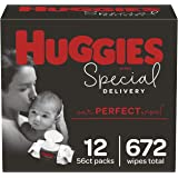 Hypoallergenic Baby Wipes, Unscented, Huggies Special Delivery Baby Diaper Wipes, Safe for Sensitive Skin, 99% Purified Water
