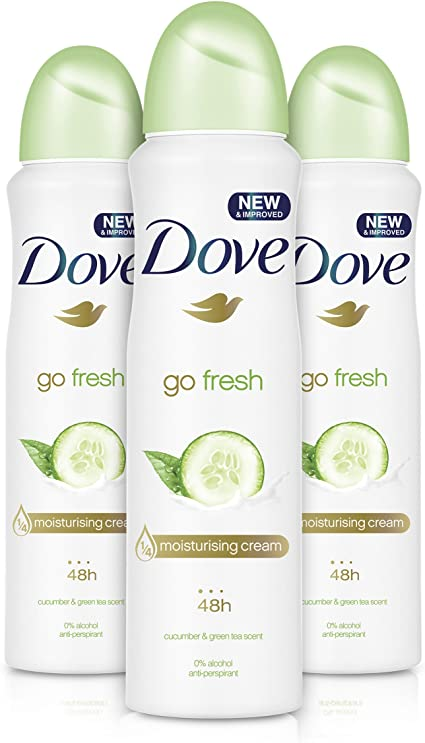 Dove - Go fresh cucumber aerosol antiperspirant deodorant 150ml ...