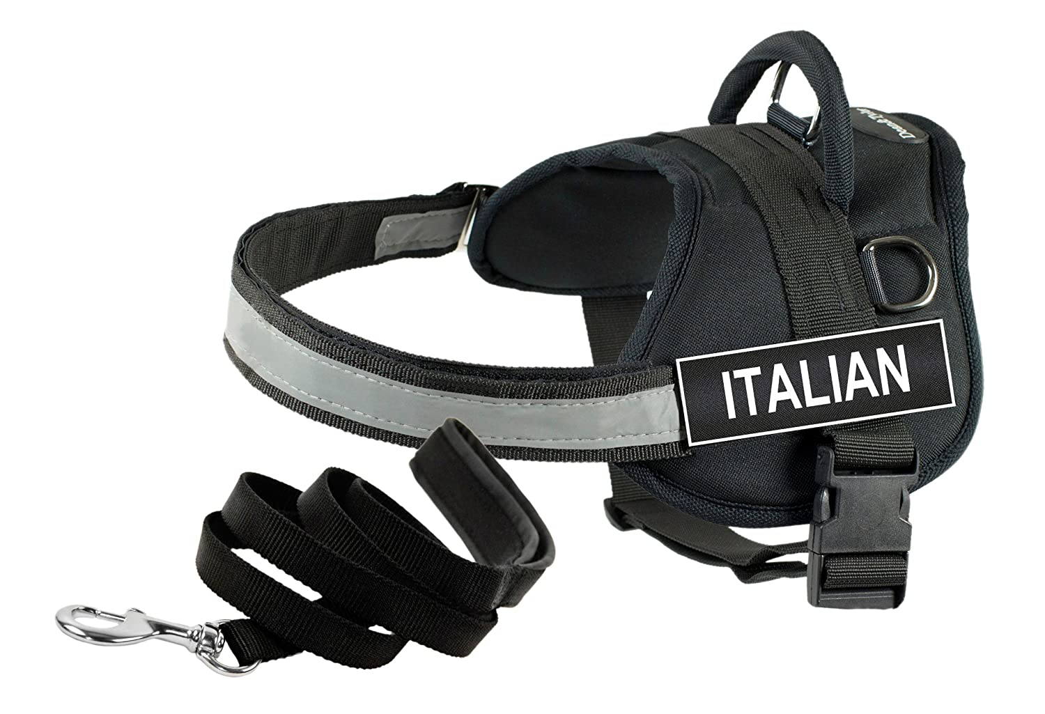Dean & Tyler's DT Works ITALIAN Harness, Small, with 6 ft Padded Puppy Leash.
