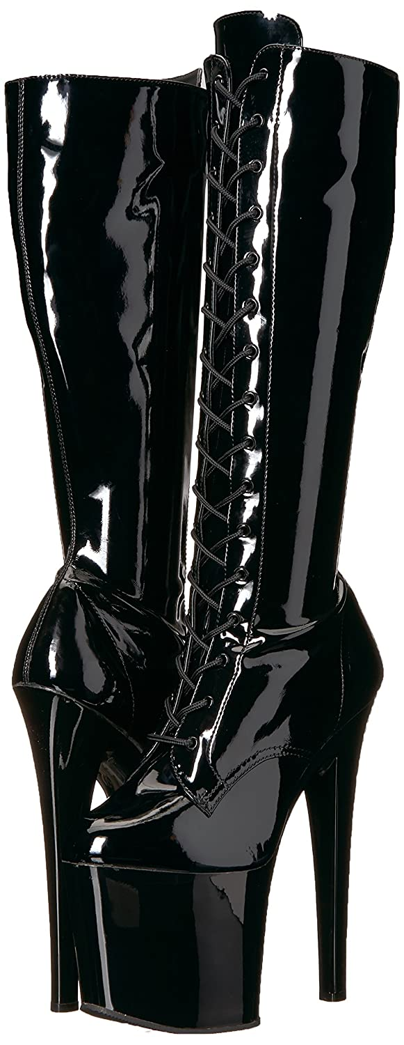 Pleaser Women's Taboo-2023 Knee High Boot B06XKRVHMR Patent/Black 8 B(M) US|Black Str. Patent/Black B06XKRVHMR 940e6c