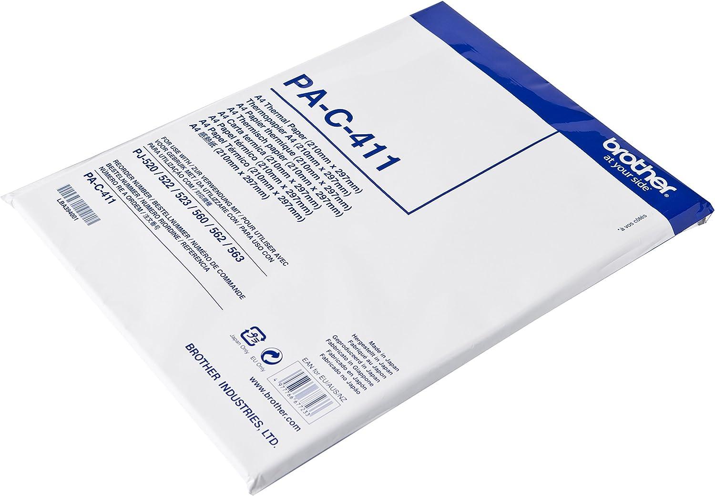 Brother PAC411 - Paquete de 100 hojas de papel térmico A4: Amazon ...