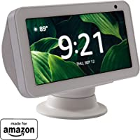 """Made for Amazon"" Premium Tilt + Swivel Stand for the Echo Show 8 - White"