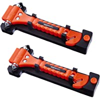 2-Pack Amazon Basics Emergency Seat Belt Cutter and Window Hammer Tool