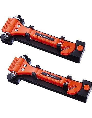AmazonBasics - Cortador de cinturón de seguridad y martillo rompecristales de emergencia, pack de 2