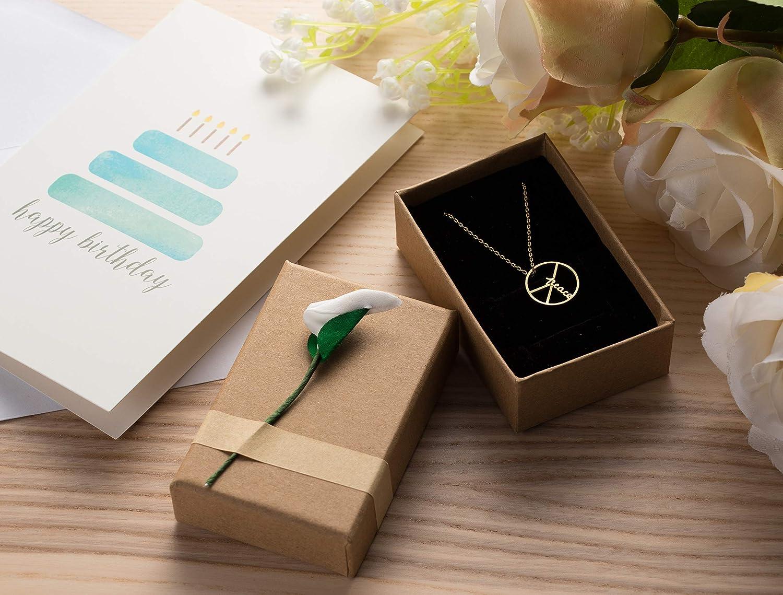 12-Piece Gift Box Set 3.5 x 1 x 2.2 Inches Weddings Birthdays Lily Jewelry Box for Anniversaries