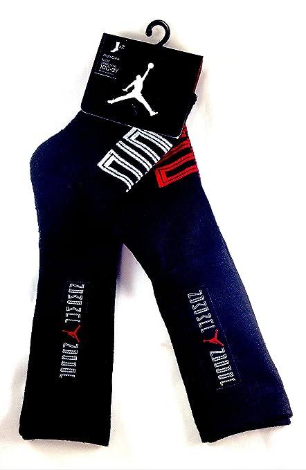 on sale 6c30f 0ce71 Amazon.com  Nike Jordan Kids 2 Pack High Crew Cut Socks Black, 10C-3Y Shoe   5-7 Sock  Toys   Games