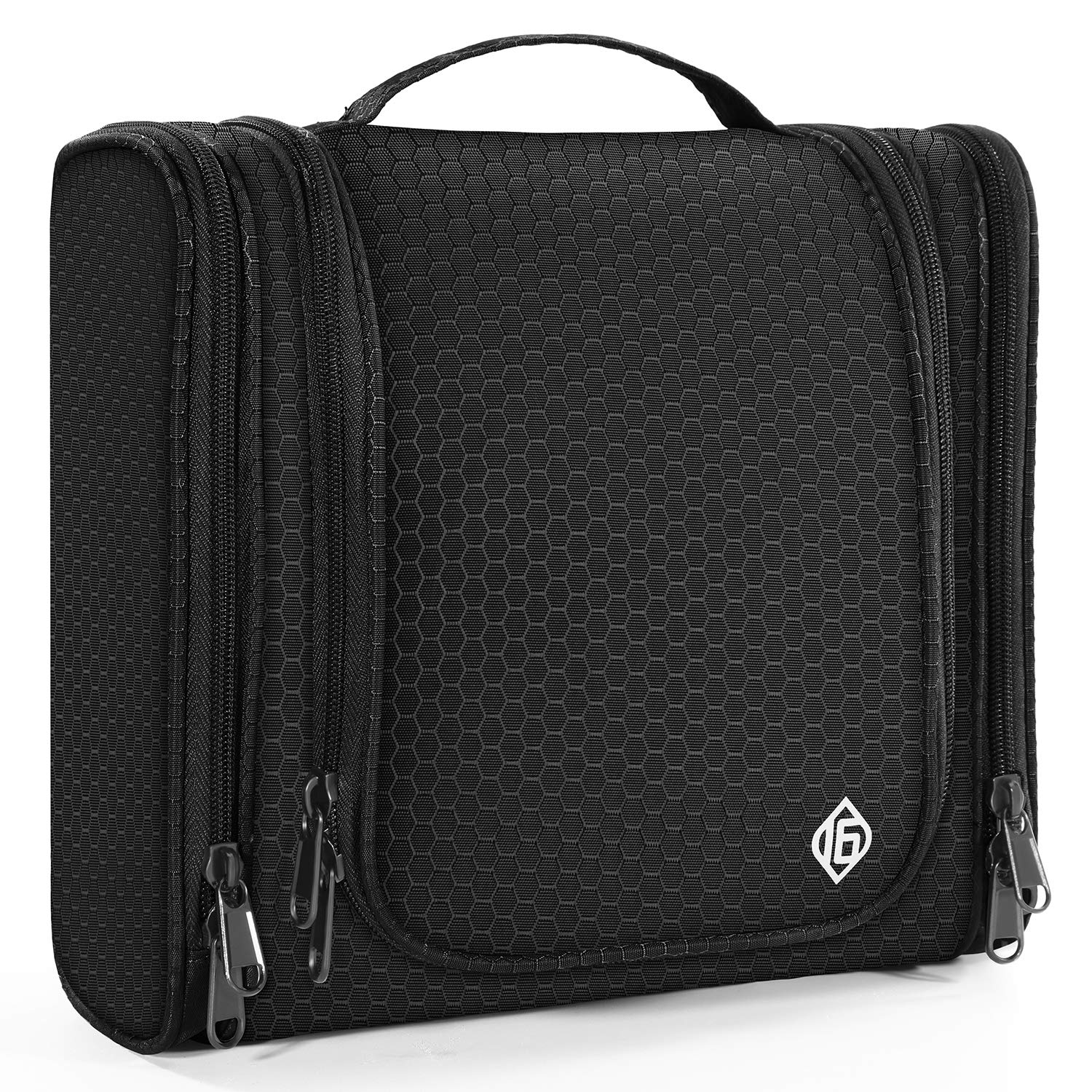 16 Large Toiletry Travel Bag for Men and Women Heavy Duty Waterproof Sturdy Hook Shower bag ONLY SIXTEEN by 16 ONLY SIXTEEN
