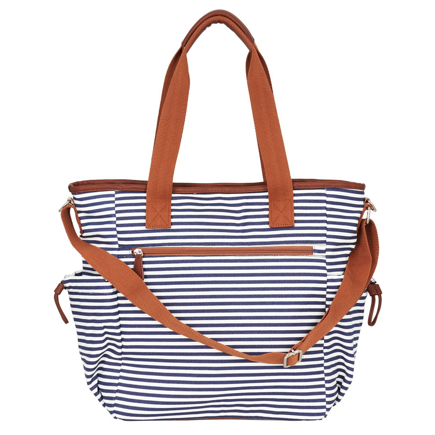 ec13c0501ac50 Details about Diaper Bag by Hip Cub - Weekender Tote - Designer Canvas W/  Cute Baby Change Pad