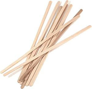 [500 PACK] Wooden Coffee Stirrer Sticks 7.5 inch - Bio Degradable, Eco Friendly Beverage Stirrers, Splinter Free Birch Wood - Disposable Drink Stir Sticks for Tea, Beverage, Coffee and Arts & Crafts