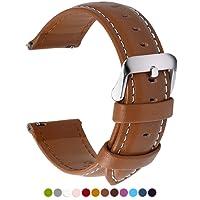 Fullmosa 14mm 16mm 18mm 20mm 22mm 24mm Bracelet Montre en Cuir Véritable, 12 Couleurs Axus Montre Bracelet à Dégagement Rapide