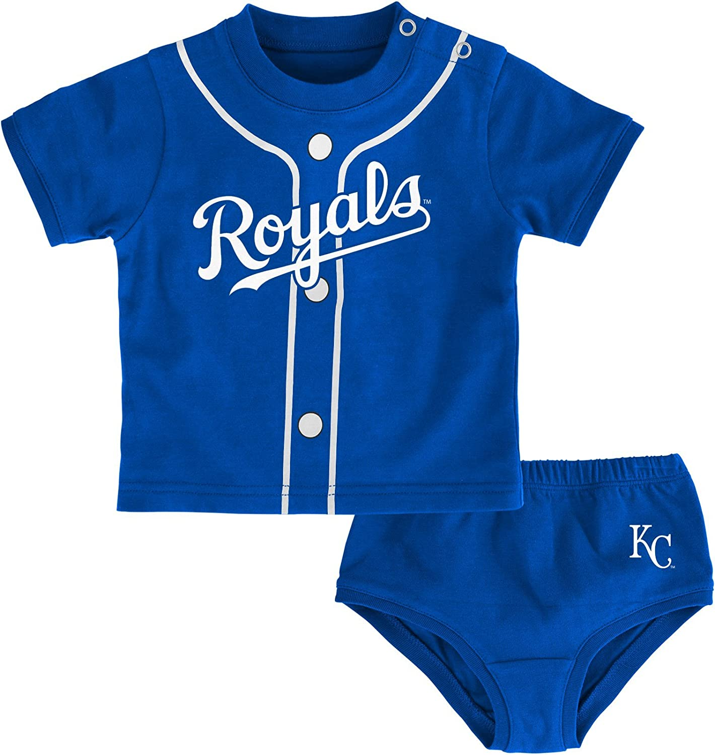 Outerstuff MLB Infant Boys Little Player Onesie and Diaper Set
