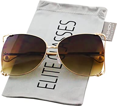New Women/'s Designer Vintage Oversized Classic Retro Fashion Sunglasses DG139D