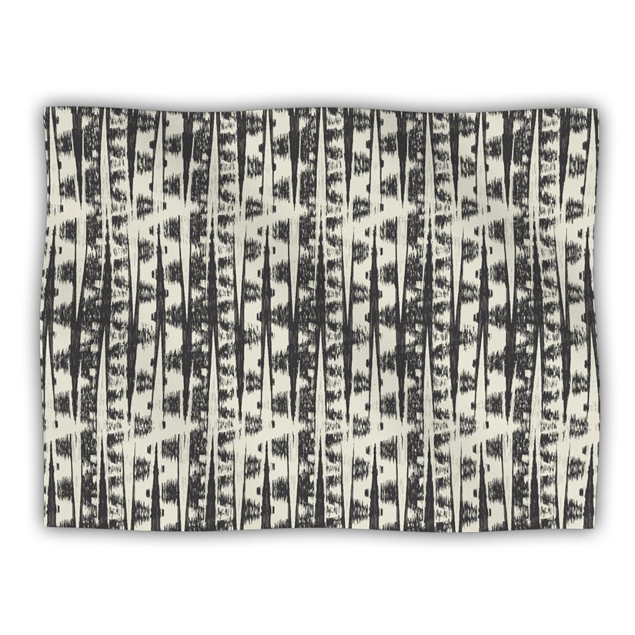 Kess InHouse Amanda Lane Black Cream Abstract Pet Blanket, 40 by 30-Inch