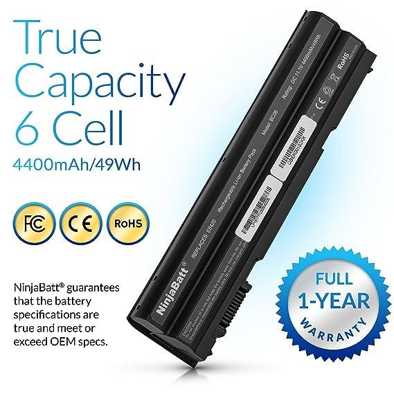 NinjaBatt Batteria per computer portatili Dell T54FJ, Latitude E6420 E6520 E5420 E5520, Inspiron 5520 5720 7520 7720, P/N: 8858X 8P3YX KJ321 M5Y0X NH6K9 ...