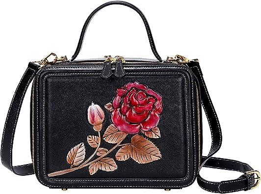 PIJUSHI Designer Handbags For Women Floral Purses Top Handle Satchel Bags