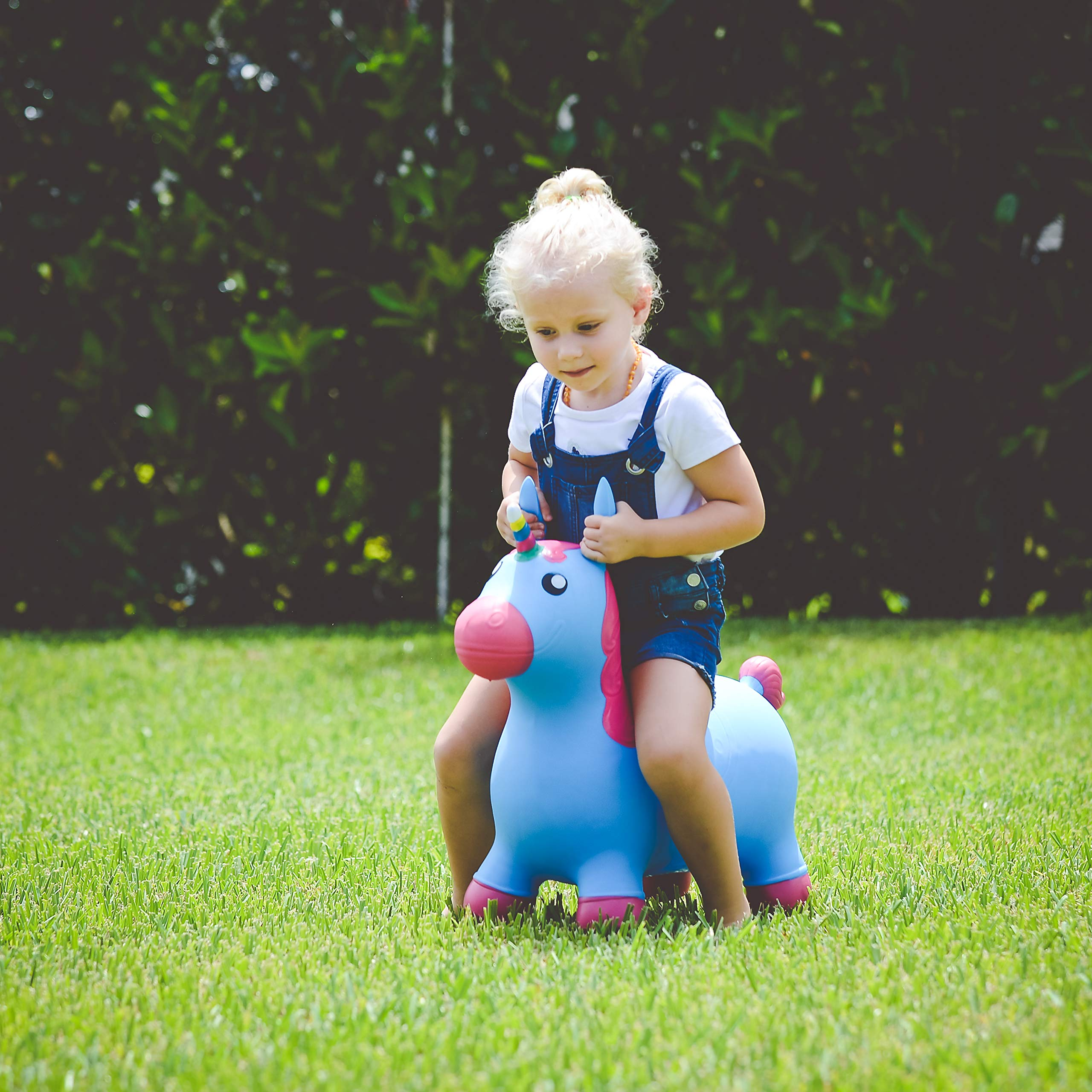 Kiddie Play Hopper Ball Unicorn Inflatable Hoppity Hop Bouncy Horse Toy (Pump Included) by Kiddie Play (Image #6)