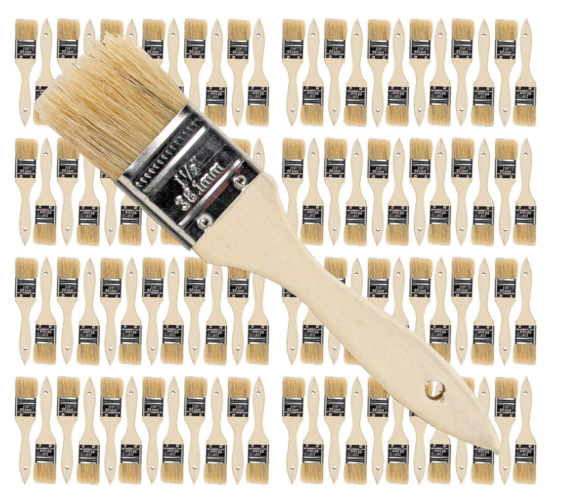 Pro Grade - Chip Paint Brushes - 96 Ea 1.5 Inch Chip Paint Brush by Pro-Grade