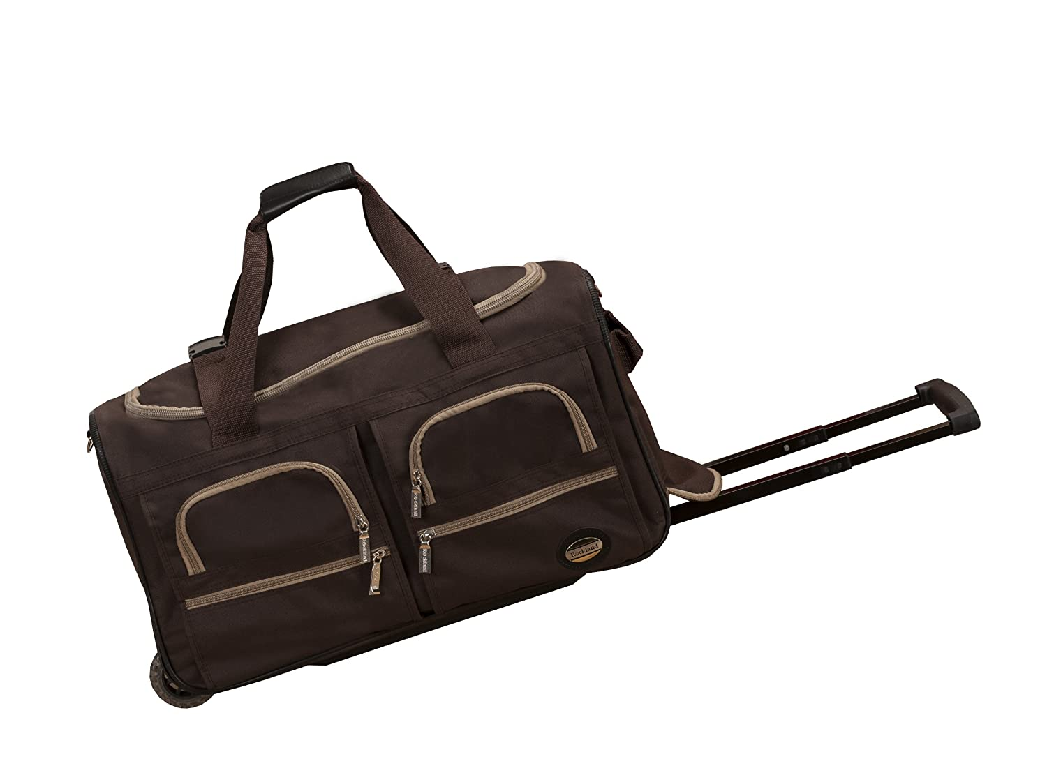 Rockland Luggage 22 Inch Rolling Duffle Bag, Charcoal, One Size Fox Luggage PRD322