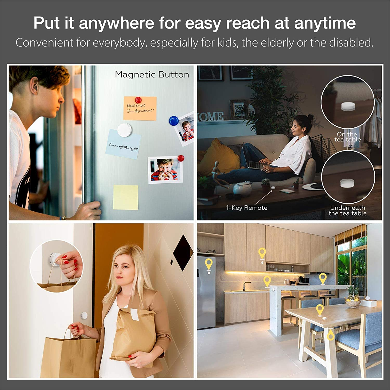 40m//131ft Long Range Linkind Zigbee Smart Plug with Remote Control Button 13A 2990W Indoor Wireless Remote Control Socket Expandable with Linkind Hub Zigbee Signal Controlled Outlet