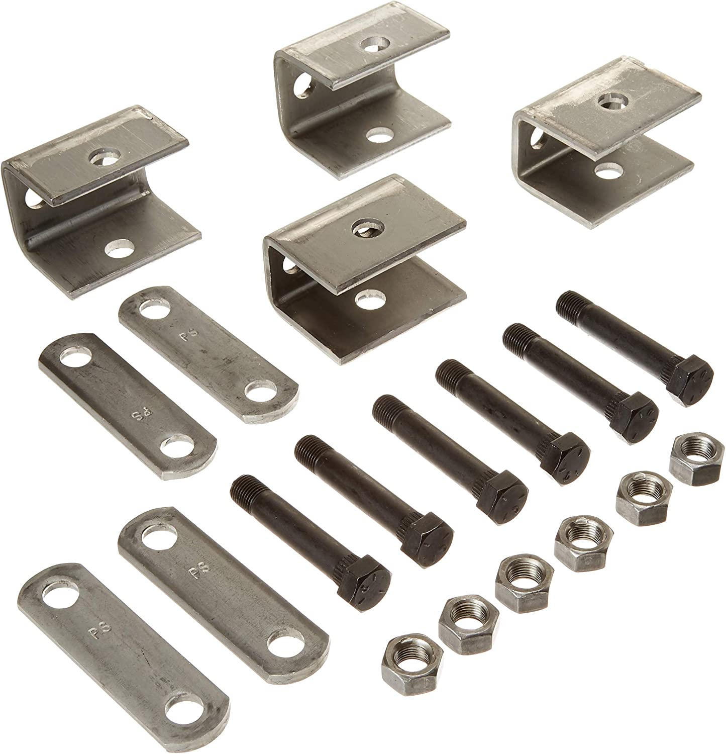 Rockwell American Single Axle Spring Hanger Kit /& U-Bolt Kit for 3,500lb Trailer Axle